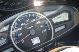 PCXの走行距離は5711Km