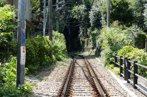 極楽寺駅方向