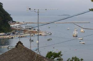漁港がみえています