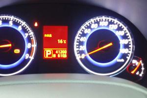 車の外気温表示は16℃