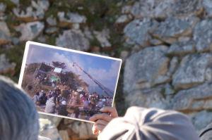 竹田城跡の撮影風景の写真