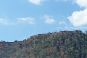 麓からの竹田城跡