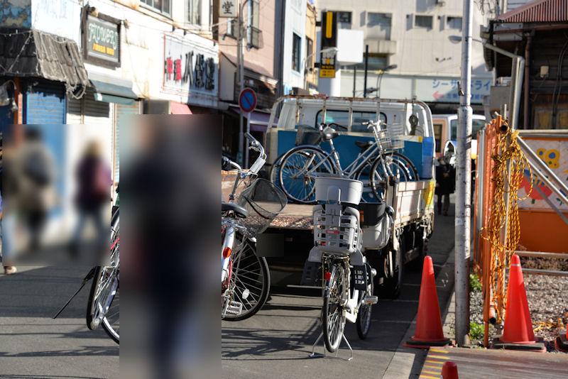 駐輪の違反自転車が
