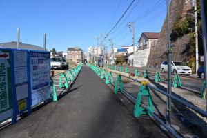 道路整備は来年3月14日までの予定