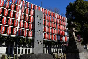 神社前「瀬戸神社」の文字は