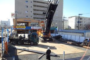 マンション建設工事が始まっていました