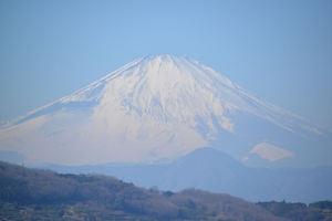 ズームで撮った富士山