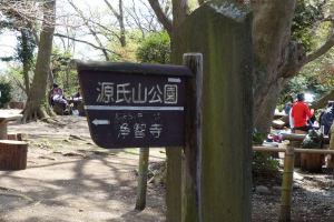 源氏山公園に到着