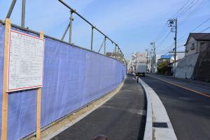 瀬戸神社横の道路は工事が終わり