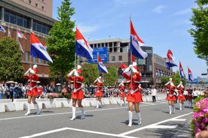 県警察音楽隊カラーガード