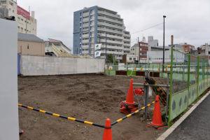 青木ビル東側の基礎工事