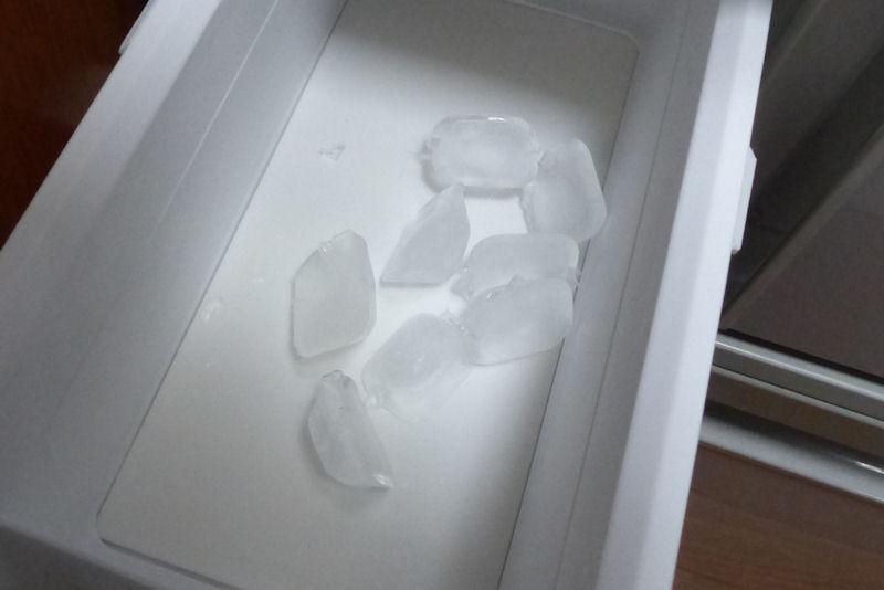 氷が8ヶできていました