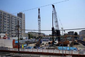 金沢区総合庁舎工事の様子