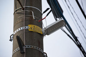 町内の防犯灯、LEDに交換