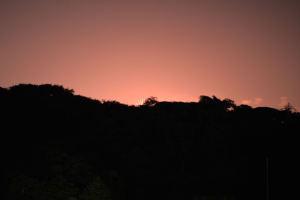 空が赤く染まって見えました