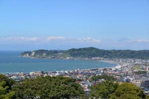鎌倉由比ヶ浜を望む場所