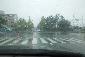 台風18号雨風が強くなる