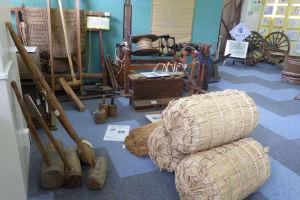 当時使われた道具がたくさん