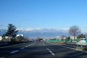 南アルプスの山々がみえています