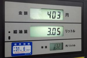 ガソリン価格、上がってきました