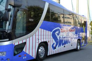 東京ヤクルトのバス