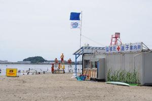 海の公園明日25日海開き