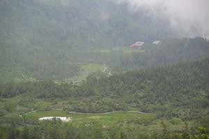 自然園最高地点2020mから見た風景