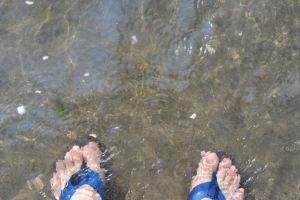 久しぶりに海へ入りました
