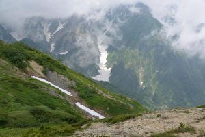 雪渓がかなり下まで
