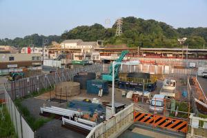 八景駅前シーサイド延伸工事準備