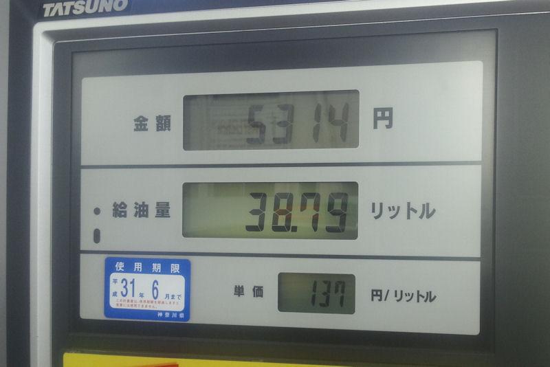 ガソリン価格下がっています