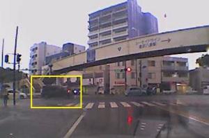 今朝の金沢八景駅前