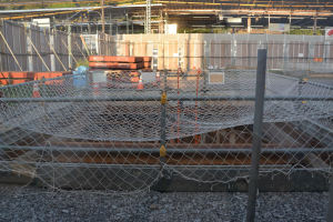 駅前シーサイドライン橋脚の基礎工事