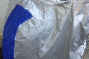 新しいカバーは前がブルー
