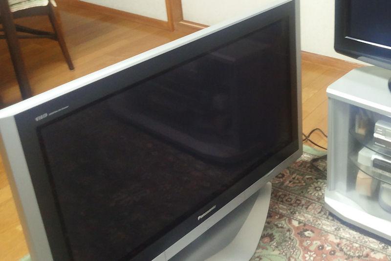 2006年に購入したパナ37インチプラズマテレビ