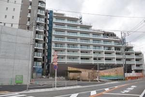 瀬戸神社側からのマンション