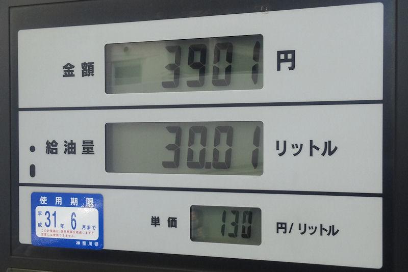 ガソリン価格安くなっていますが