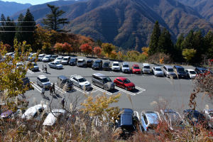 平日ですが駐車場はほぼ埋まっていました