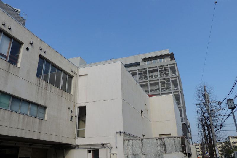 公会堂越しの新庁舎