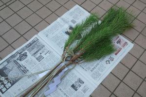 松飾を片付けました