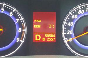 7時過ぎ車の外気温度は2度