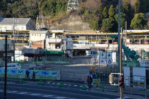 八景駅への道路があった場所