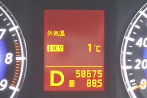 車の外気温度