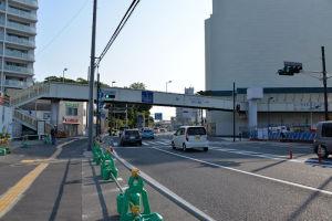 歩道橋撤去は8月中旬から9月に掛けて
