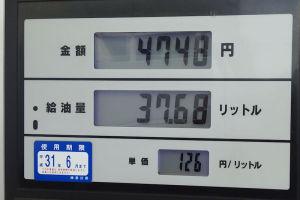 先々週平日のガソリン価格