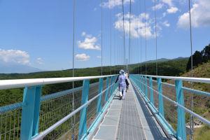 全長400mの吊橋