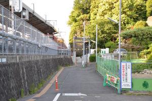 現在の駅西側道路
