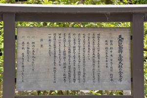 金木犀の案内板