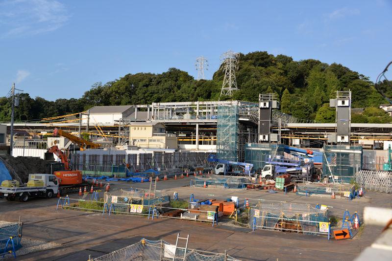2016年9月金沢八景駅前工事の様子