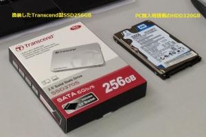 トランセンドのSSD256GB
